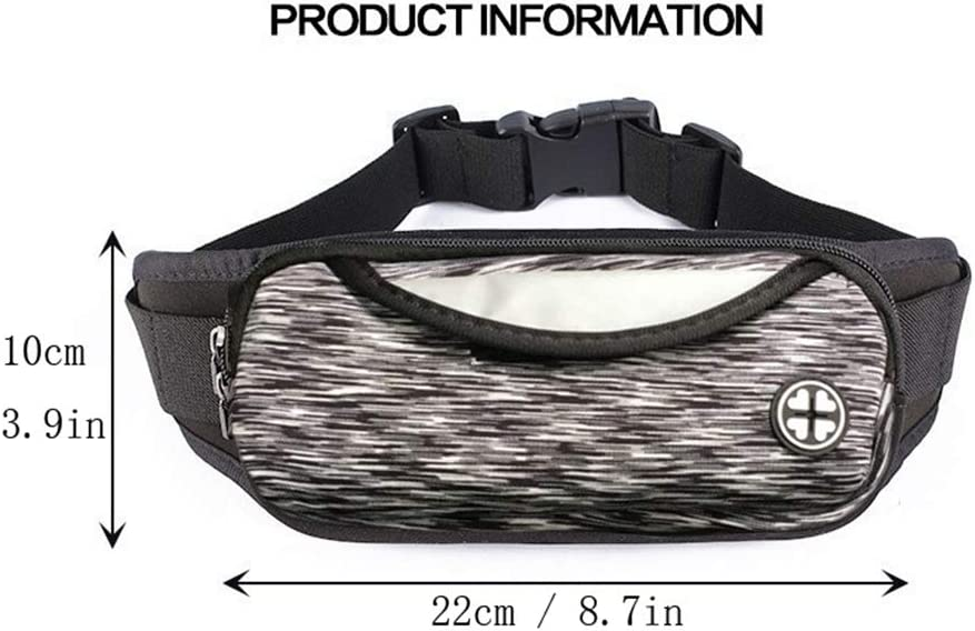 Running Sling Belt Waist Lightweight Pockets Bag with Adjustable Band for Man Women Unisex Workout Vacation Hiking Runner Walking Cycling Sporting Pouch LivebyCare Waterproof Fanny Pack