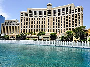 """Poster 24/"""" x 36/"""" Fountains Bellagio Las Vegas"""