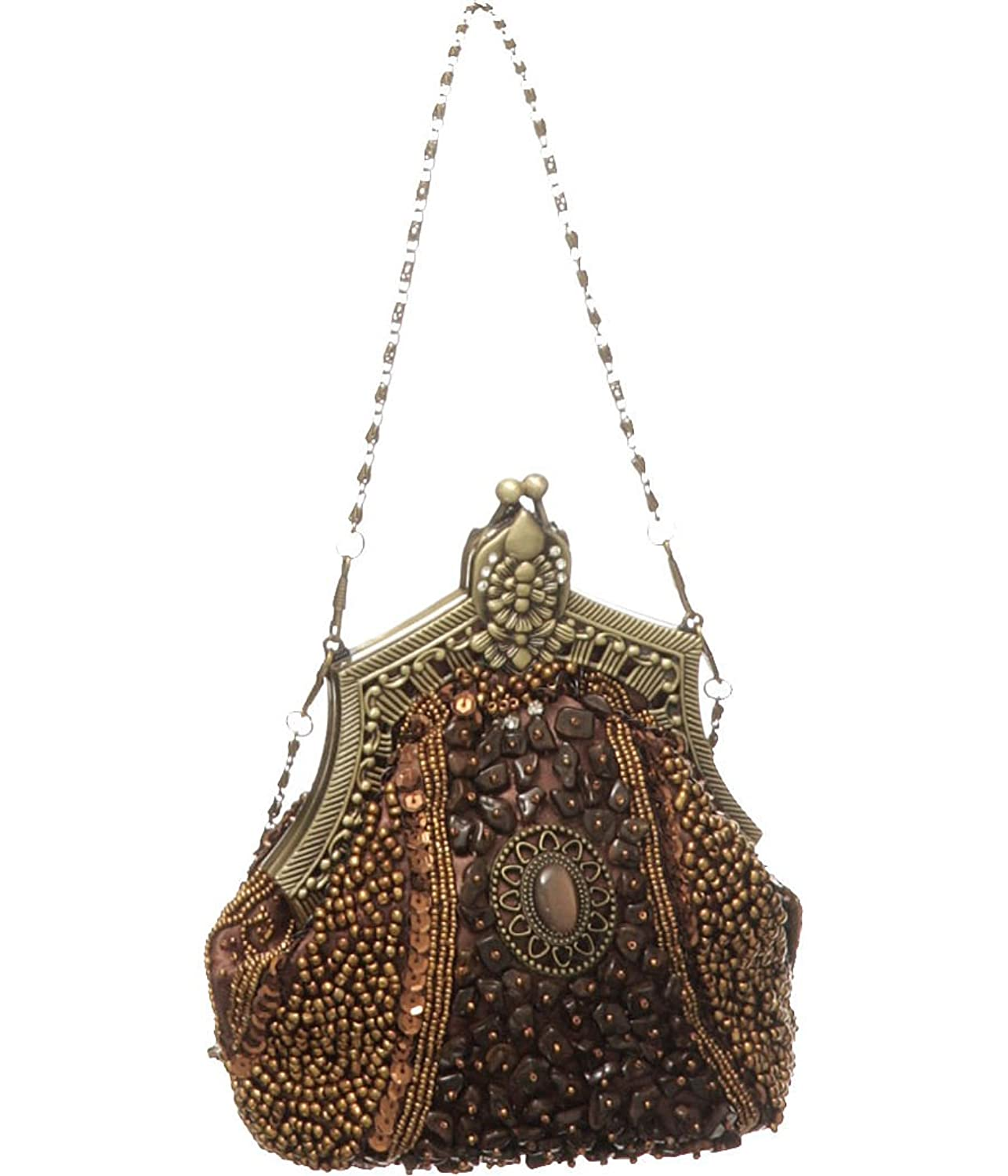 Vintage & Retro Handbags, Purses, Wallets, Bags Beaded Victorian Vintage-Style Evening Clutch $34.95 AT vintagedancer.com