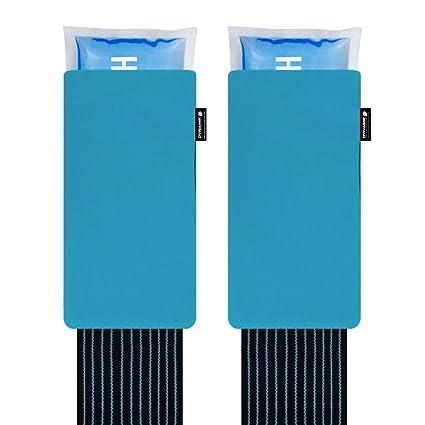 Gelpacksdirect - pack de 2 bolsas de gel reutilizables para aplicar frío y calor - con banda de compresión - para lesiones en espalda, rodilla, hombro ...