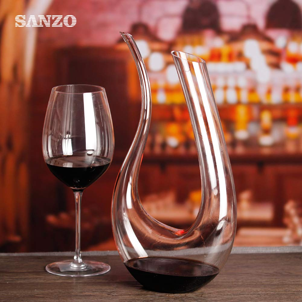 100/% Lead-Free Premium Crystal Glass Red Wine Carafe,Wine Accessories 1500ml Crystal Wine Decanter 51.25oz
