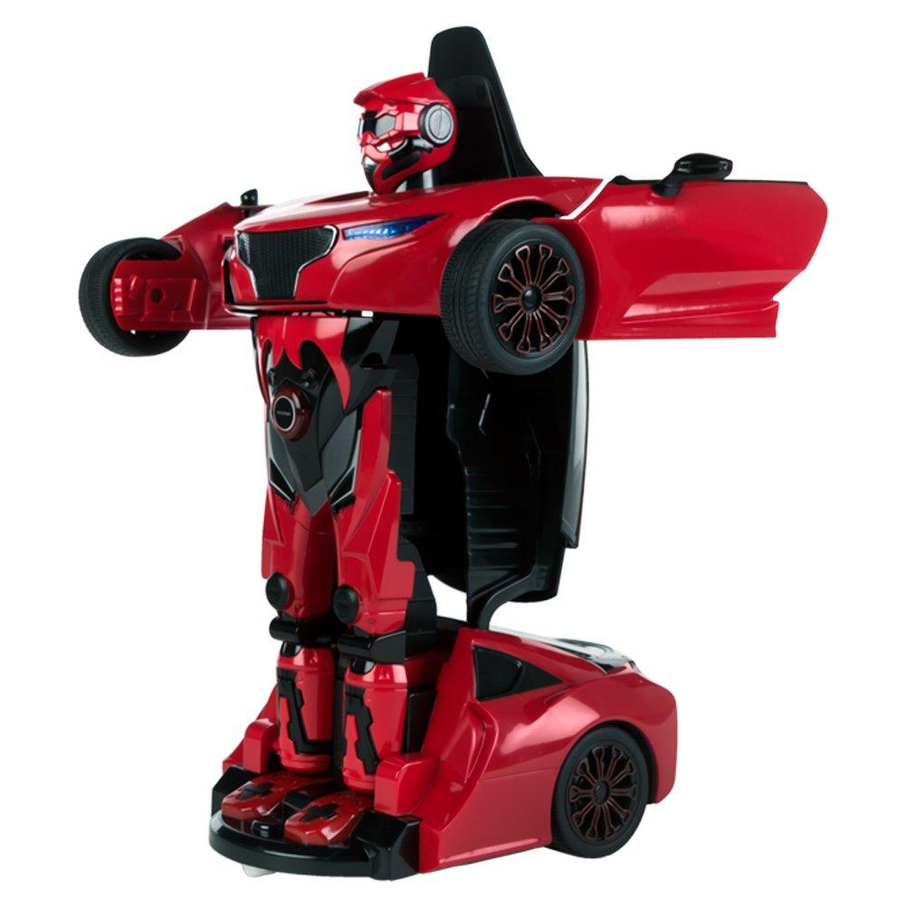 85003 Rojo Coche teledirigido Transformable en robot  1:14 Rastar