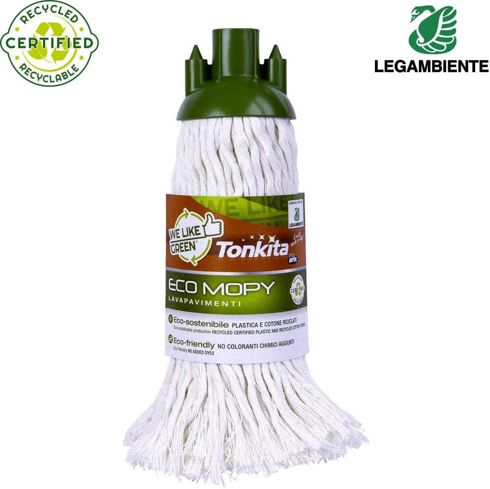 TONKITA Fregona de algodón de limpieza ecológica y la limpieza de ...
