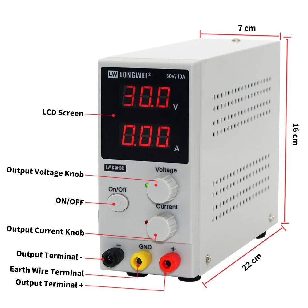 DC Power Supply Variable, 0-30 V // 0-10 A LW-K3010D