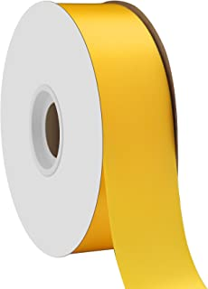 """product image for Offray Berwick 1.5"""" Single Face Satin Ribbon, Daffodil Yellow, 50 Yds"""