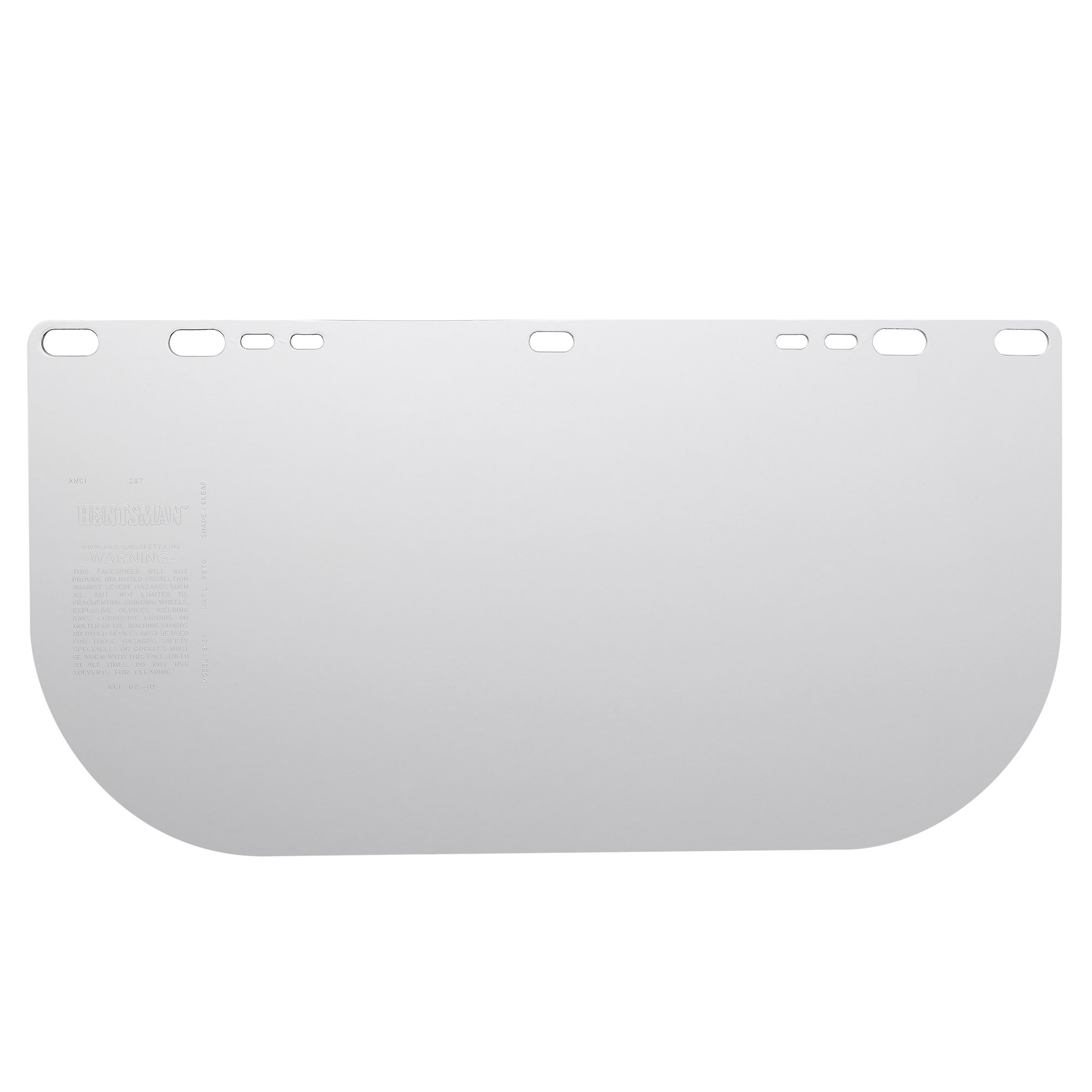 "Jackson Safety F10 PETG Face Shield (29104), 8"" x 15.5"" Clear, Disposable Face Protection, 100 Shields / Case"