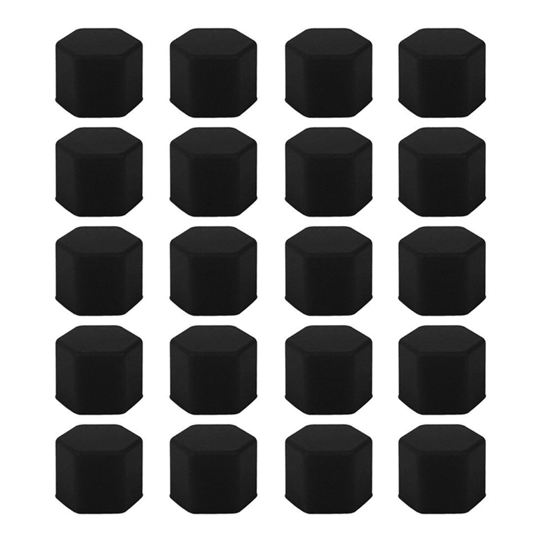 Andux Land Wheel Lug Nut Covers Silicone 21mm 20PCS LSBHT-01 Green