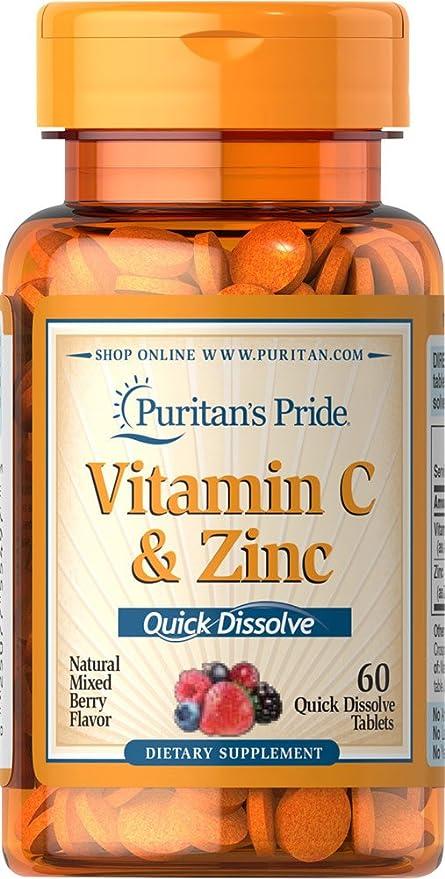 Vitamina C (60mg)+ Zinc(15 mg) de rápida disolución. /