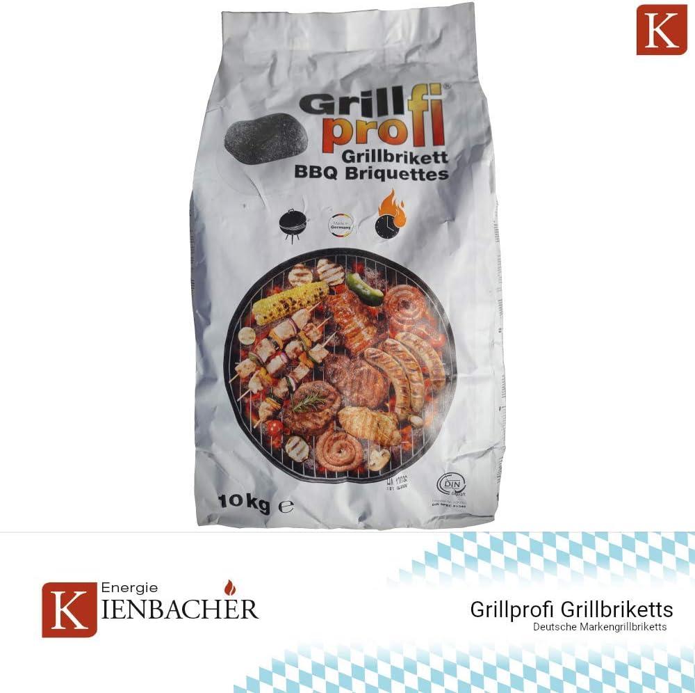 100/% Made in Germany Grillprofi Premium Grillbriketts 26kg Grillkohle Grill Brikett Kohle Holz Holzkohle f/ür Kugel /& Holzkohlegrill geeignet bis 3,5 Stunden Grilldauer von Energie Kienbacher