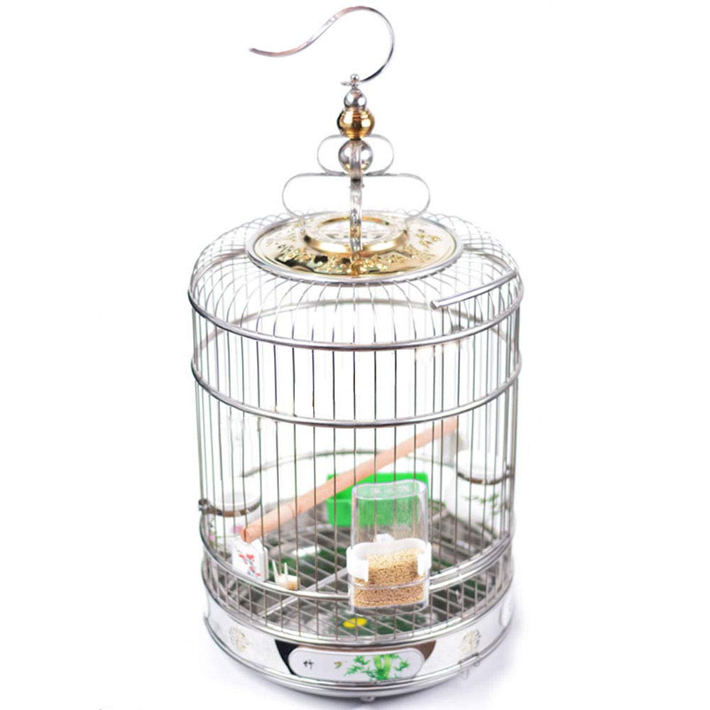 L ZRZJBX Metal Bird Cage Parred Cage, Canary Cage Bird Cage With Accessories Humanized Design Chassis For Easy Cleaning,L