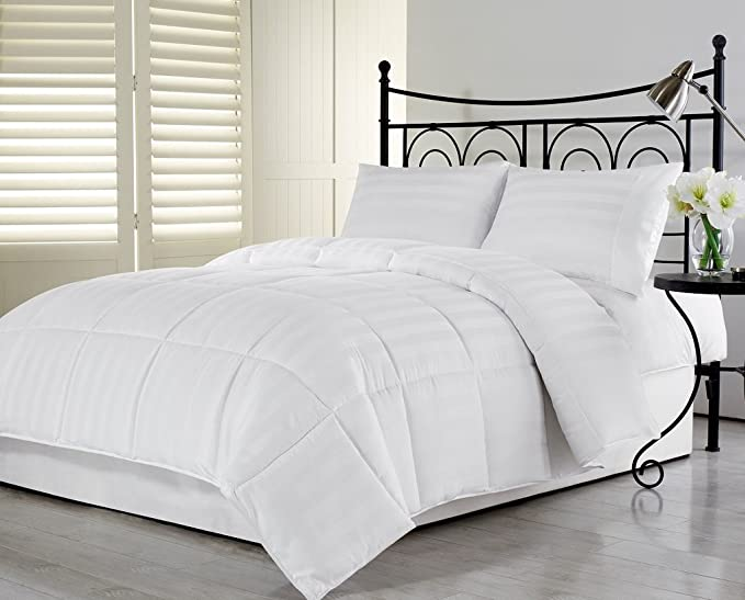 US Stock Black Stripe 1 PC Fitted Sheet 12 In 1000TC Egyptian Cotton Select Size