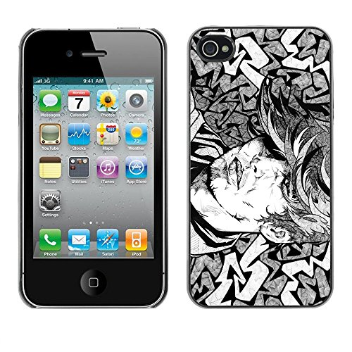 Cool Tattoo Illustration - For Apple iPhone 4 / 4S