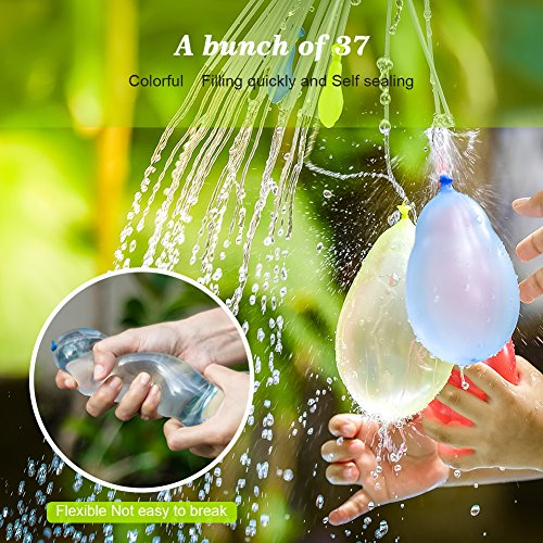 MAOXIAN Water Balloons for Kids Girls Boys Balloons Set Party Games Quick Fill Water Balloons (592 Pack) Swimming Pool Outdoor Summer Fun by MAOXIAN (Image #1)