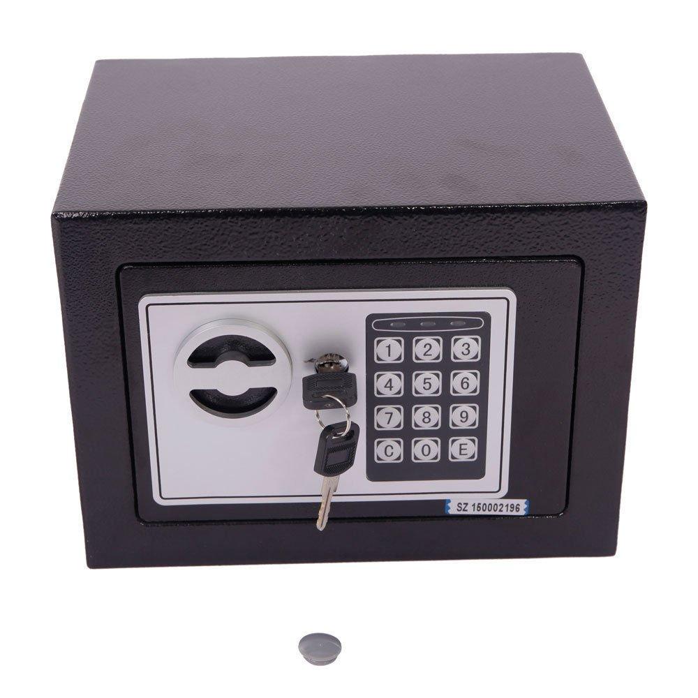 New Black Safe Box Keypad Lock Home Office Hotel Gun Steel Digital Electronic