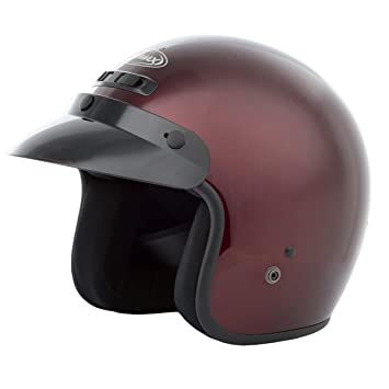 GMAX GM2 calle Open Face casco de moto – Vino