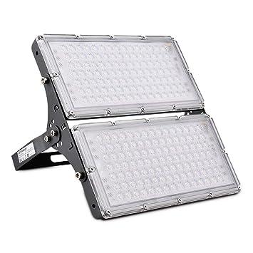 Proyectores LED de 200 W para exteriores, impermeables, luz cálida ...