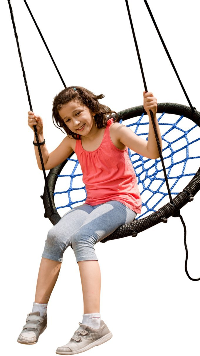 Professional Grade Childrens Tree Swing FULLY ASSEMBLED 40'' Nest Swing for Playground Includes Tree Swing Hanging Kit with 700 lb capacity