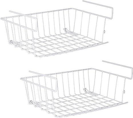Unter Regal Rack Korb Küche Mesh Cabinet Organizer Halter Schwarz Weiß