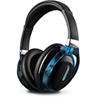 Meidong E1 Bluetooth V4.0 NFC Over-Ear Headphones (Black & Blue)