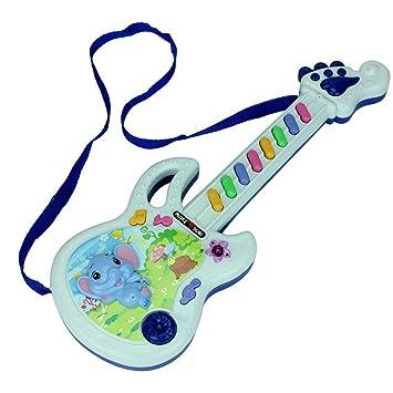 Togames-ES Guitarra eléctrica Juguete Musical Play Kid Boy Girl Toddler Learning Electrónica de Desarrollo Educación de Juguete Regalos de Cumpleaños: ...