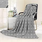 vanfan Unique Custom Blanket Arabian Art Background a Group Traditional Turkish Ottoman Forms Patterns,Silky Soft,Anti-Static,2 Ply Thick Blanket. (60''x36'')