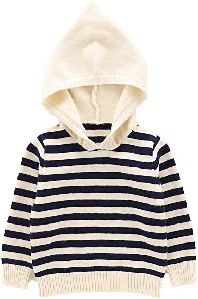 Moonnut Baby Boys Girls Striped Pullover Hoodie Baby Hooded Sweater