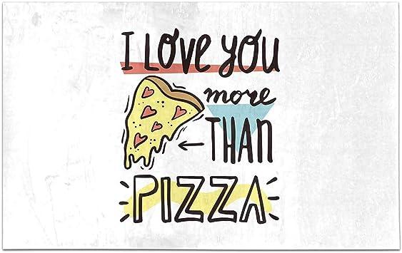 Amazon.com: INTERESTPRINT I Love You More Than Pizza Funny ...
