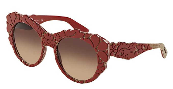 ac4a2429b27e Dolce and Gabbana DG4267 299913 Red Texture Tissue DG4267 Cats Eyes  Sunglasses