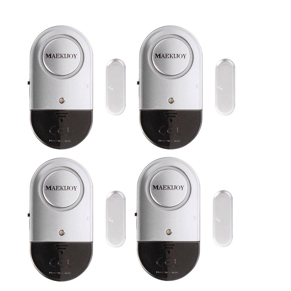 Alarma de la ventana, 4 puertas magnéticas de la puerta y de la ventana Hogar Seguridad Puerta Ventana Alarma de ladrón con fuerte 120 Sirena DB - DIY FÁCIL de instalar