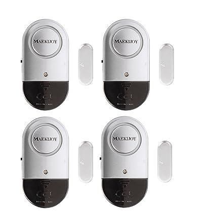 Alarma de la ventana, 4 puertas magnéticas de la puerta y de la ventana Hogar Seguridad Puerta Ventana Alarma de ladrón con fuerte 120 Sirena DB - DIY ...