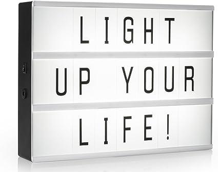 Light de caja/bombilla Buzón A4 con 85 letras y símbolos, decoración de luz de caja Incluye Adaptador de red: Amazon.es: Iluminación