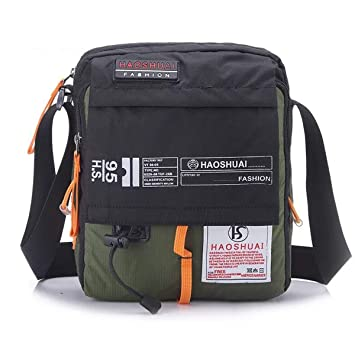 f914ccb4e923 JAKAGO Waterproof Messenger Bag Shoulder Crossbody Bag Mobile Phone Pouch  Passport Holder Mens Purse Bag 10.1