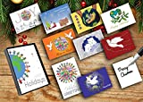 Assorted Holiday Greeting Cards for Business-50 Cards, Made From Children's Artwork