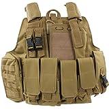 Mil-Tec Coyote Tan Gilet de combat MOLLE Style militaire