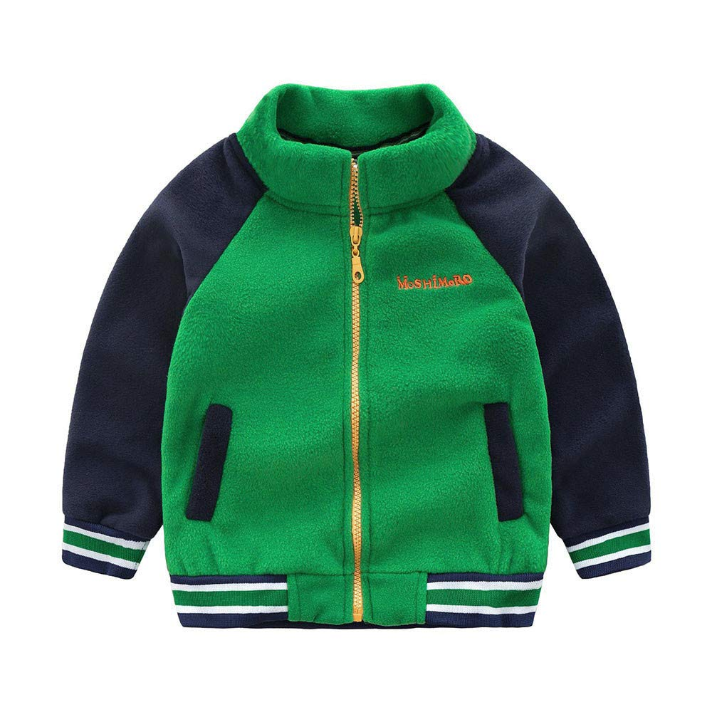 Little Kids Winter Autumn Coat,Jchen(TM) Clearance! Toddler Kids Baby Boys Winter Warm Splice Jackets Baseball Warm Coat Outwear for 1-7 Y (Age: 4-5 Years Old, Green)