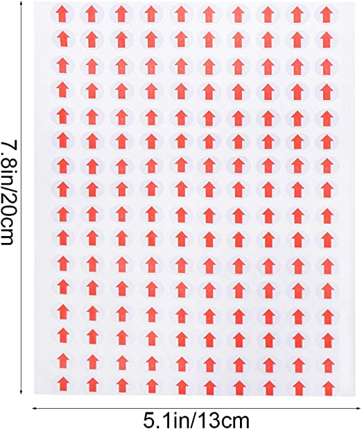 STOBOK 3200 Piezas Pegatinas de Flecha Roja Peque/ña Calcoman/ía Autoadhesiva Indicador de Defectos de Inspecci/ón para Control de Calidad 10 Mm