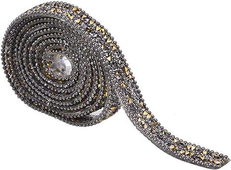 1M Crystal Rhinestone Close Chain Trimming Jewelry Sewing Crafts DIY 2-4mm