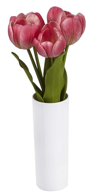 Tulipes Lumineuse Rouge - Lumiè re - Fleur Lumineuse 30 cm de haut - Fleur artificielle mariage - Dé coration inté rieure p2g