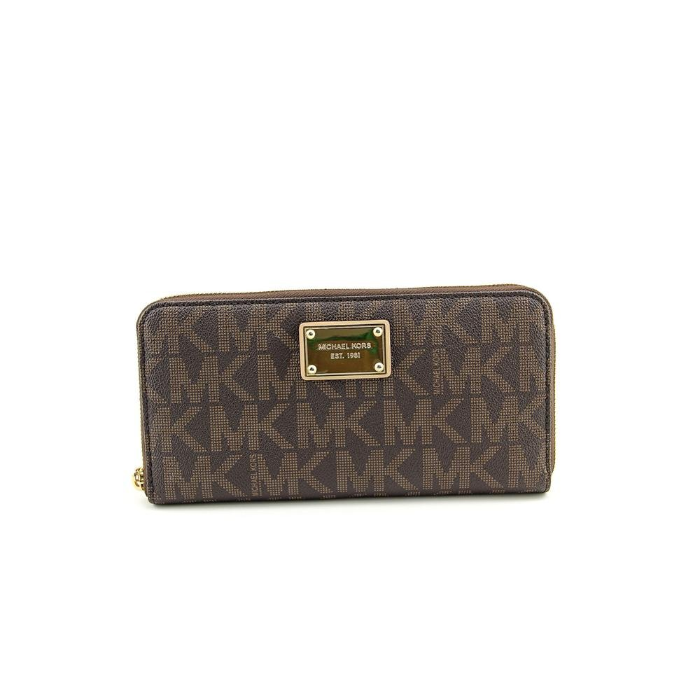 19242967807f1d ... reduced michael kors jet set 18k travel wallet pvc brown at amazon  womens clothing store ad431