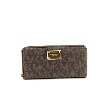 8fa9c285b9a1 MICHAEL Michael Kors Jet Set Travel Wallet (Brown) at Amazon Women s  Clothing store