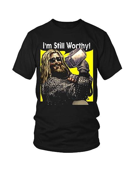 Amazon.com: Thor Im Still Worthy Shirt Fat Thor with Hammer ...