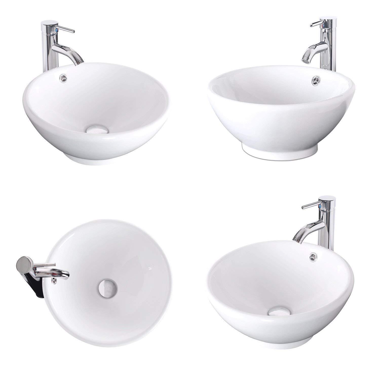 White Cabinet Bathroom Vanity Top With Porcelain White Sink Set Rectangle Ceramic Sink Combo W Chrome Faucet Mdf Board 24 Bathroom Vanity Cabinet With Mirror Bathroom Sink Vanities Accessories Tools Home Improvement Fcteutonia05 De