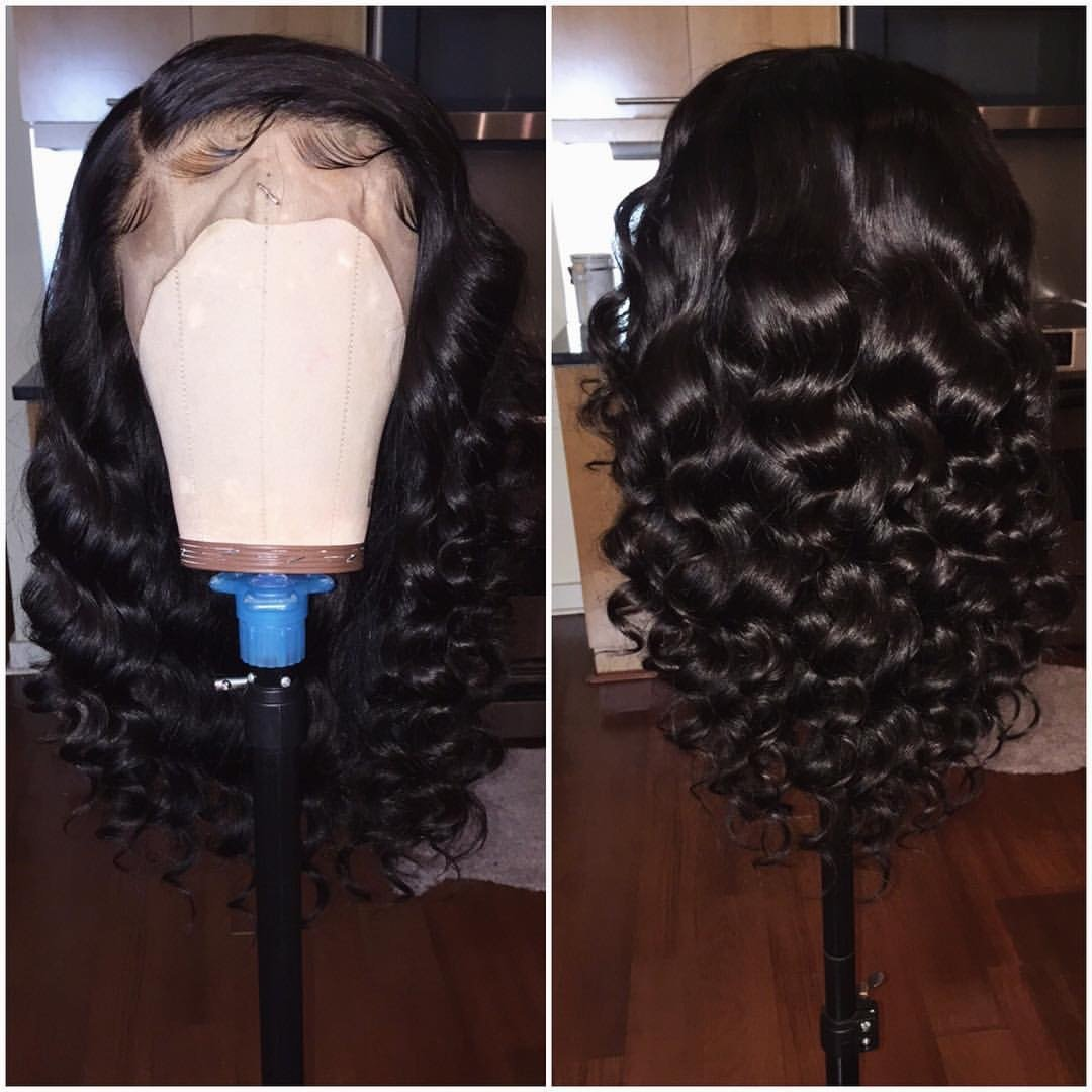 Foxy's Hair 360 Lace Frontal Wig With Baby Hair short wavy 360 wigs Glueless Brazilian Human Hair (8 inch)