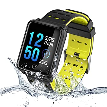 TECKEPIC N88 Montre Connectée Smartwatch Bracelet Connecté Trackers dactivité Podomètre Distance Calories Cardiofréquencemètre iPhone