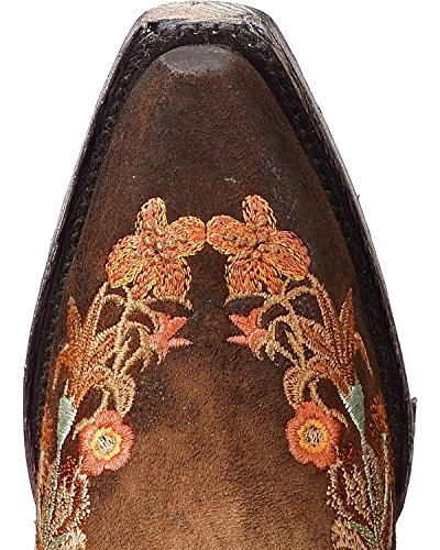 Leather Chocolate Lindsey CORRAL Boots Embroidery Cowgirl Women's Floral wTRITx0O8q