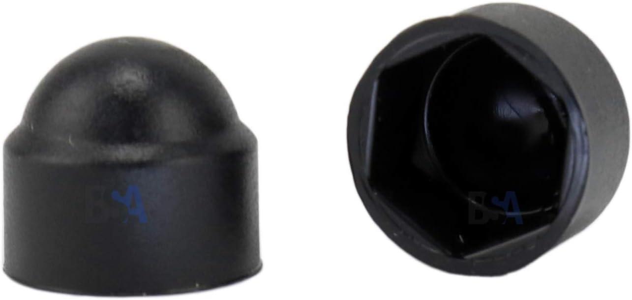 10 Tappi di Copertura per Bulloni Esagonali e Dadi M8 WURTH 059008 Nero RAL 9005 Neri Altezza 15,1mm Diametro Esterno 16,5mm Tappo Copribulloni copridadi