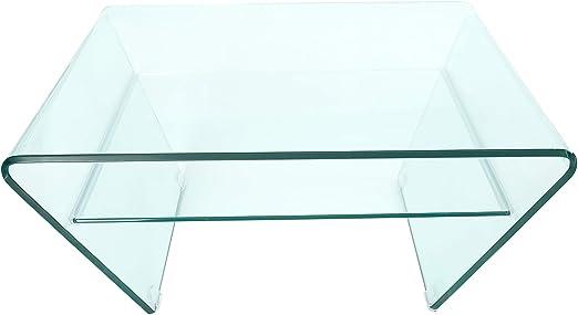 Invicta Interior Ghost - Mesa de Centro (Cristal, 70 cm), diseño Trapezoidal, Color Transparente: Amazon.es: Juguetes y juegos