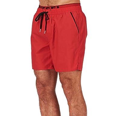 gamme complète d'articles juste prix pas cher à vendre DIESEL - - Homme - Short de bain double ceinture Rouge ...