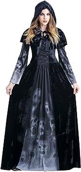 PROTAURI Adulto Disfraz de Halloween Dama Traje de Bruja ...