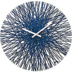 Koziol Silk Wall Clock, Velvet Blue